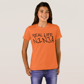 Girls Real Life Ninja Orange Shirt
