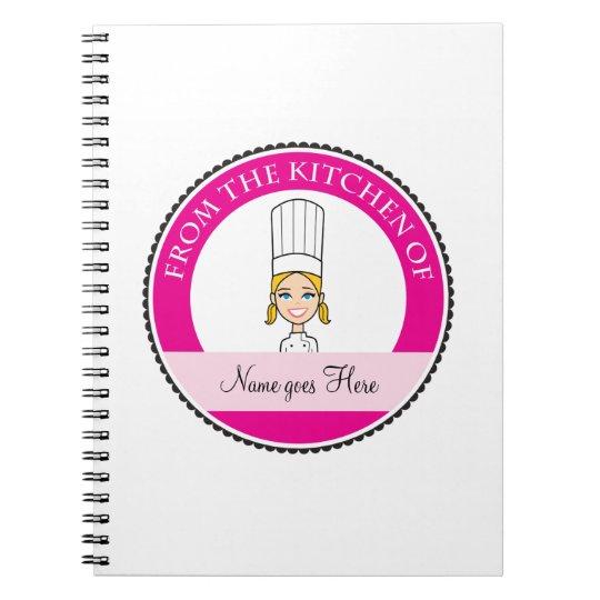 Girl's Recipe Notebook Personalised #1