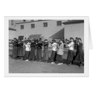 Girls Rifle Team, 1916 Card