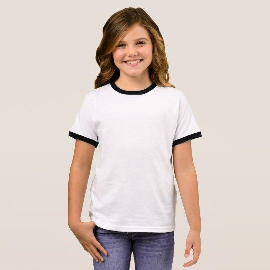 Ringer T-Shirt, White/Black