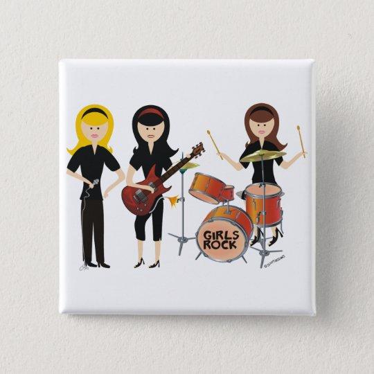 Girls Rock! Button
