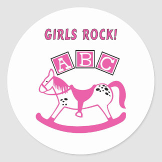 Girls Rock Classic Round Sticker