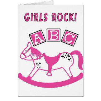 Girls Rock Greeting Card