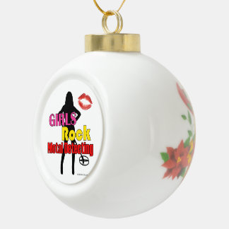 Girls Rock Metal Detecting Christmas Ornament Ball