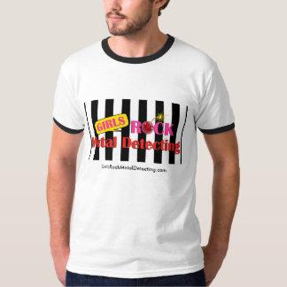 Girls Rock Metal Detecting Men's Ringer T T-Shirt
