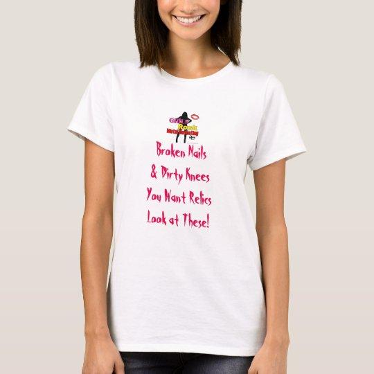 Girls Rock Metal Detecting Slogan T T-Shirt