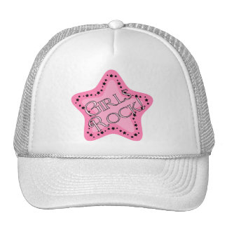 Girls Rock Pink Star Trucker Hat