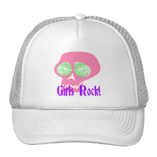 Girls Rock Punk Skull hat