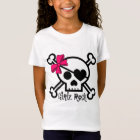 Girls Rock Skull and Pink Bow T-Shirt