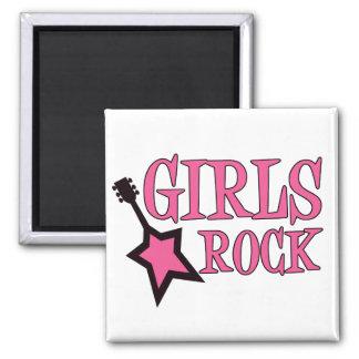 Girls Rock! Square Magnet