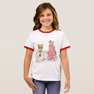 Girls Roland the cat tee