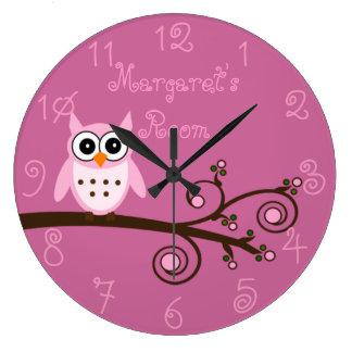 Girl's Room Cute Owl Clocks