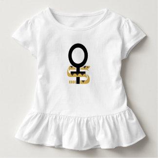 Girls Ruffle T Snake Support Women's rights Toddler T-Shirt