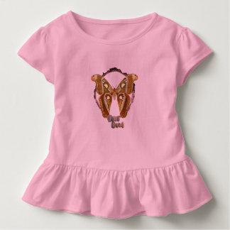 Girls ruffled butterfly top. toddler T-Shirt