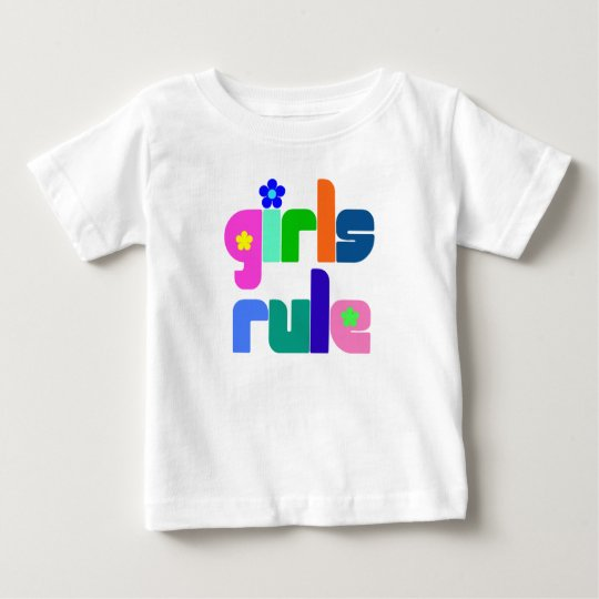 Girls rule baby/toddler t-shirt