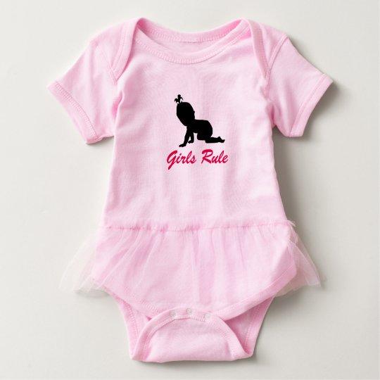 Girls Rule Baby Tutu Baby Bodysuit
