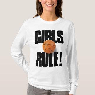 GIRLS RULE! Basketball T-Shirt