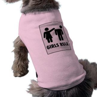 Girls rule sleeveless dog shirt