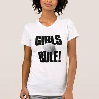 GIRLS RULE! Golf Tshirts
