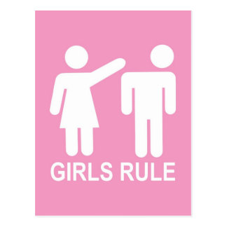 Girls Rule Postcard