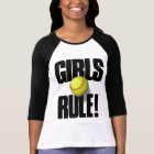 GIRLS RULE! Softball T-Shirt