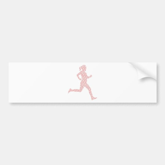 girls running bumper sticker