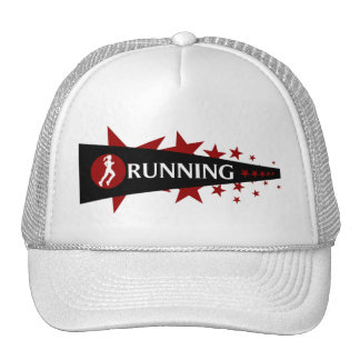 Girls Running Star Cap Mesh Hats