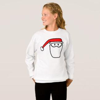 Girls Santa Festive Jumper Sweatshirt
