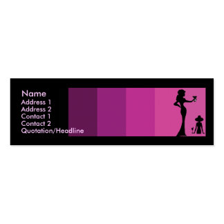 Girls Silhouette Toasting Skinny Business Card Templates
