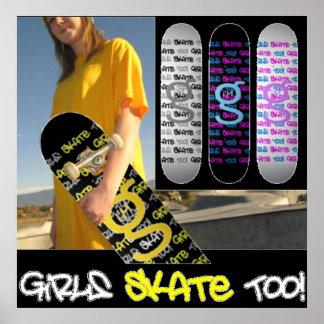 Girls Skate Too - Poster from I m G Skateboards