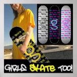 Girls Skate Too! - Poster from I'm G Skateboards