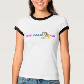 Girls Skate Too - Skateboard T Shirt