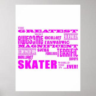 Girls Skaters Pink Greatest Skater Print
