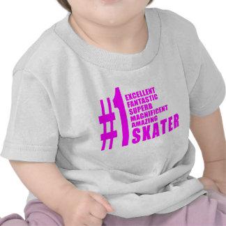 Girls Skating Skaters : Pink Number One Skater Shirt