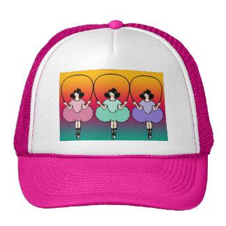 Girls skip rope mesh hats