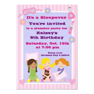 Girls Slumber Party Sleepover Pajama Invitation