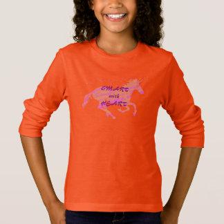 Girls Smart with Heart Unicorn T-Shirt