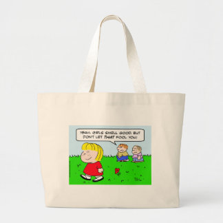 girls smell good kids fool canvas bags