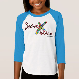 Girl's Soca Addict 3/4 Sleeve T-Shirt