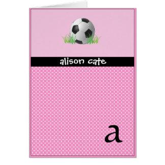 Girls Soccer Card