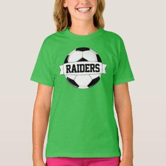 Girls Soccer Custom Team, Player, Number & Color T-Shirt
