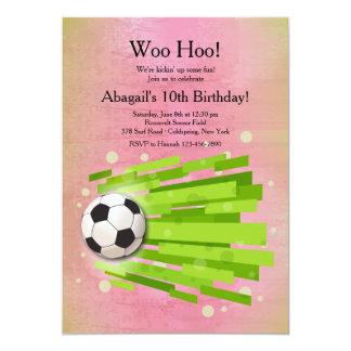 Girl's Soccer Invitation