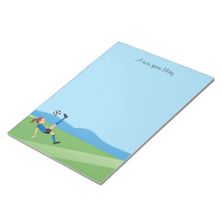 Girl's Soccer Kick Notepad 40 pages