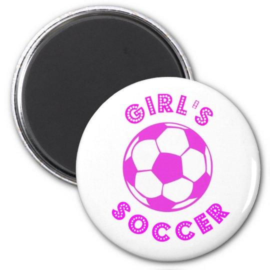 Girl's Soccer Magnet