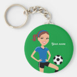 Girl's Soccer Player Personalised