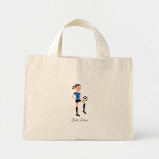 Girl's Soccer Player Personalised Mini Tote Bag