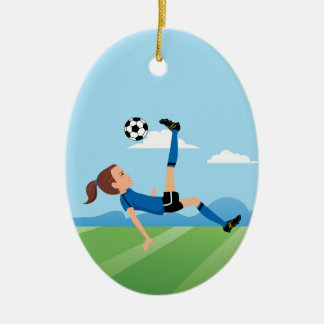 Girl's Soccer Player Personalized Christmas Ornament