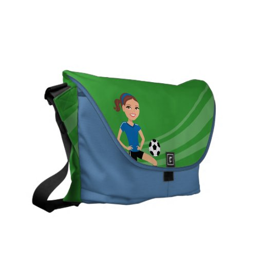 Girl's Soccer Player Personalized Commuter Bag