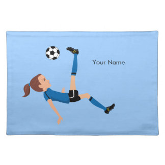 Girl's Soccer Player Personalized Placemat