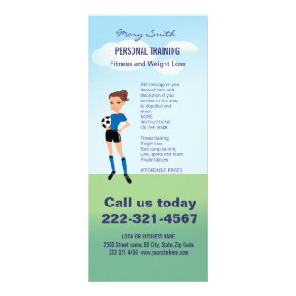 Girl's Soccer Player Personalized Rack Cards